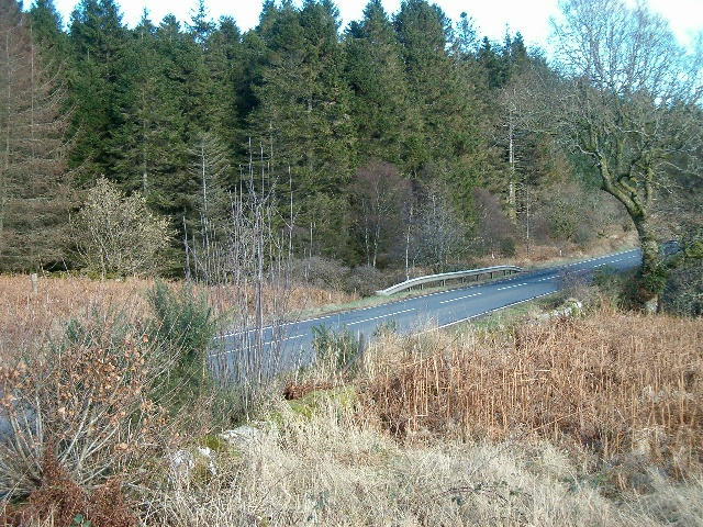 The A83 at Birdfield Wood
