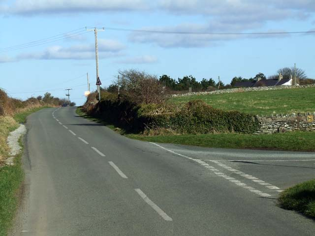Road junction on Porthdafarch road