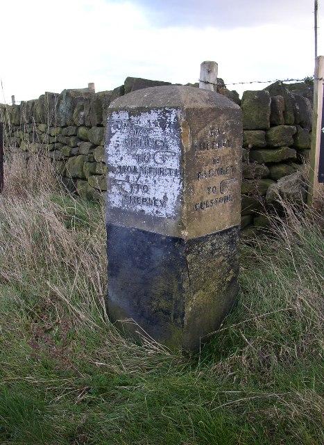 Guide stone at SE174107, Thurstonland, Yorkshire