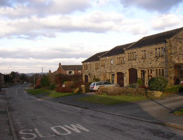 New houses in Stocksmoor, Thurstonland, Yorkshire