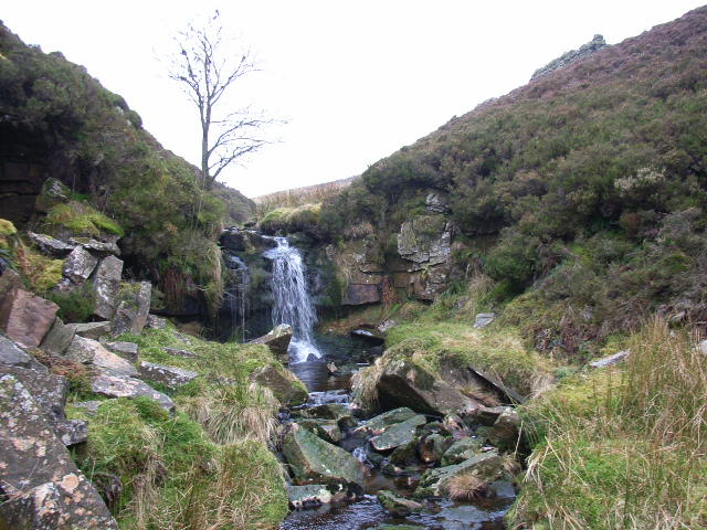 Small waterfall, Woldgill Burn