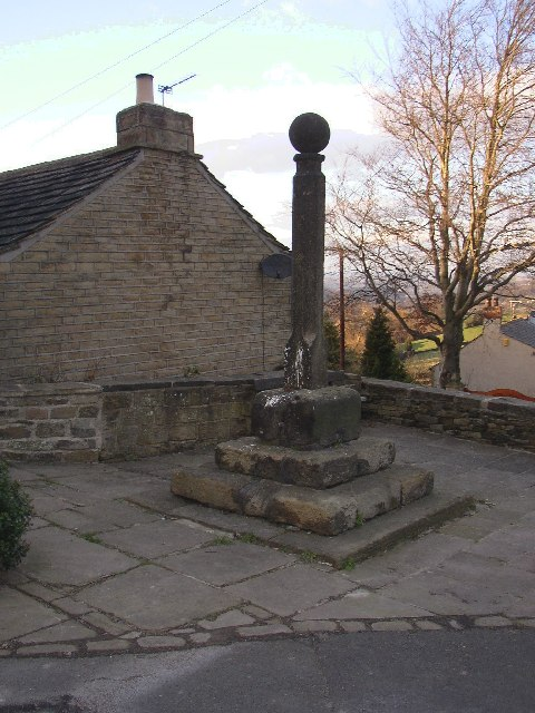 Village cross, Highburton, Yorkshire