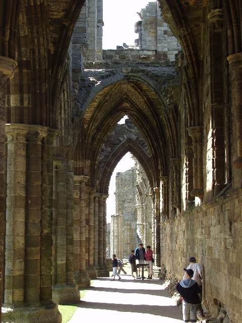 Whitby Abbey, east aisle looking north