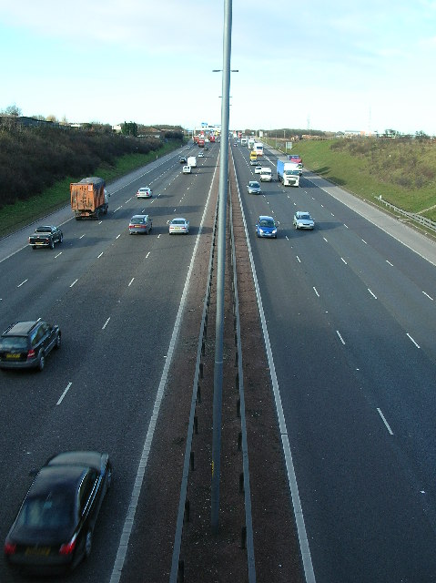 M62 looking west-bound towards J28