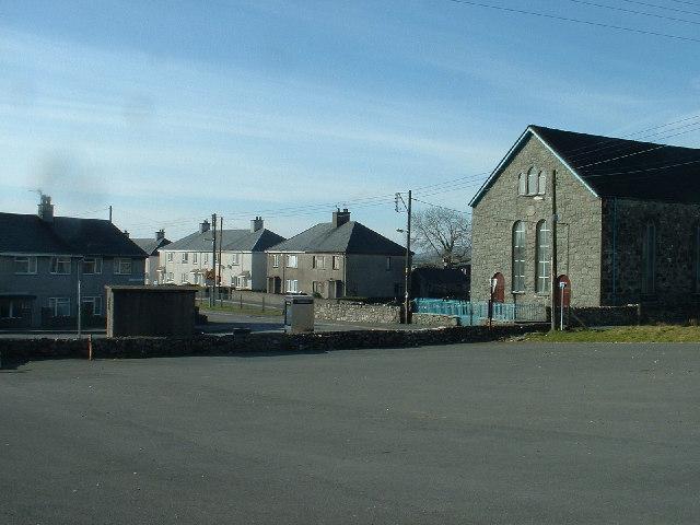 Garndolbenmaen village centre