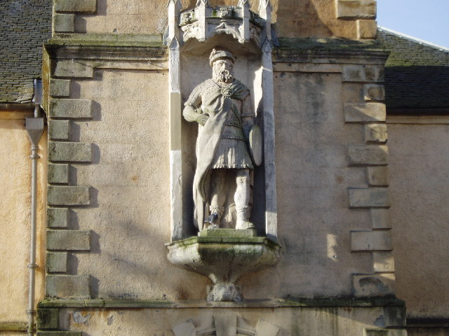 William Wallace statue, St Nicholas Church, Lanark.