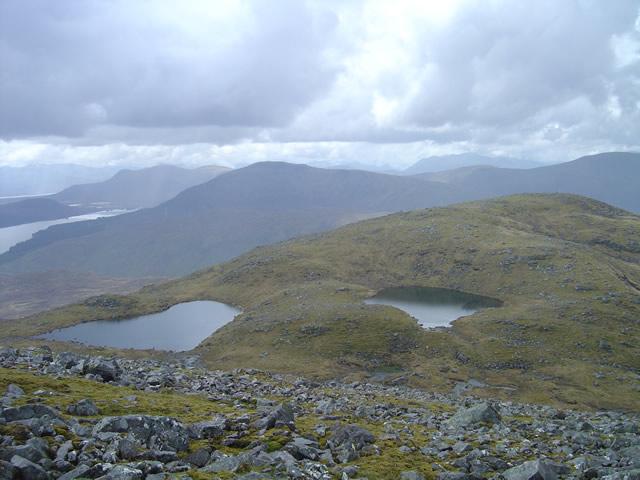 The lochans on Mullach Choire nan Nead