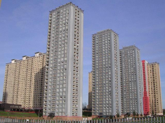 Red Road flats at Balornock