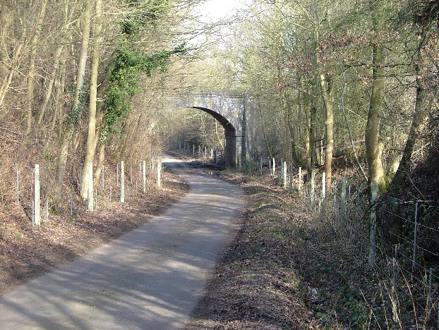 Raffin Lane passes under the Hertford loop of the Stevenage - London railway.