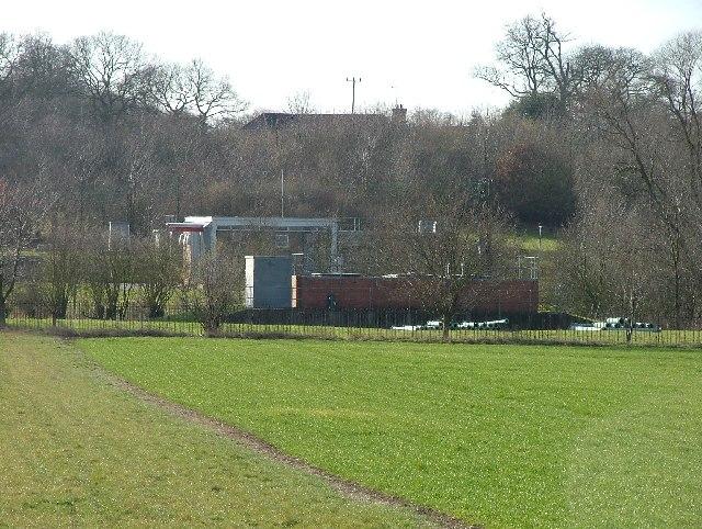 Pumping house near White Hall Farm.