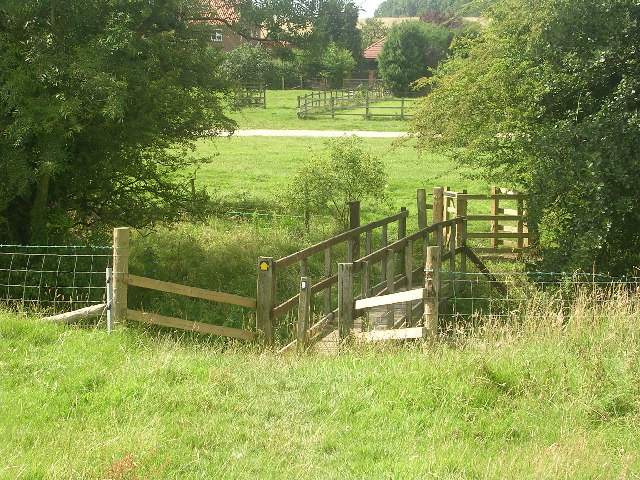 Footbridge on the Wolds Way, Nunburnholme