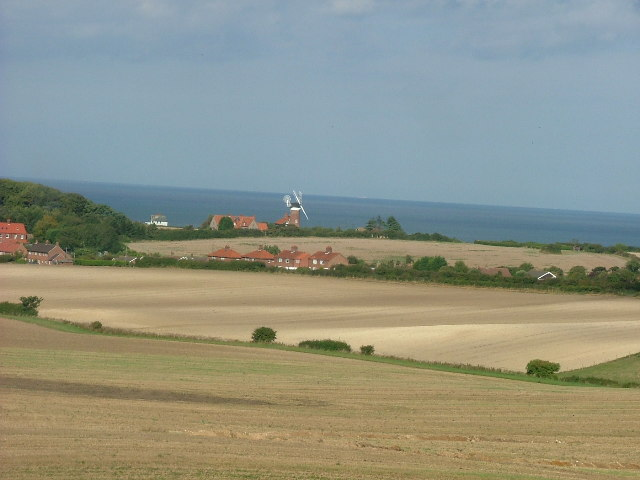 View of Weybourne Windmill from the North Norfolk Railway