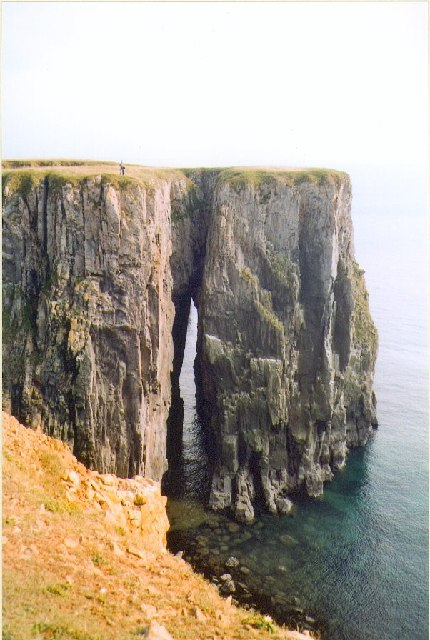 Limestone cliffs near Elegug Stacks