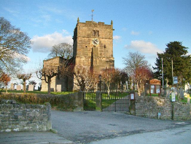 St Bartholomews Church in the village of Hognaston.