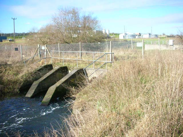 The Outfall of Broadholme Sewage Works.