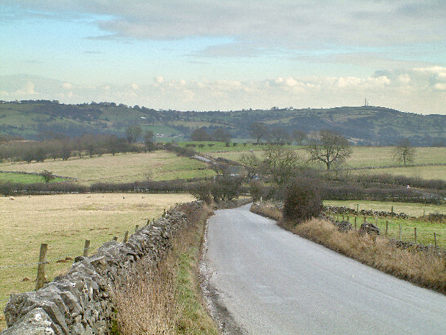 Looking north east in the direction of Wirksworth.