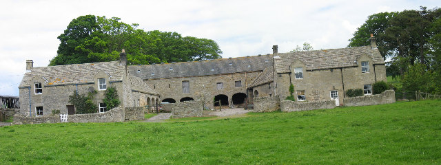 Sandyford Cottages farm buildings and garden walls