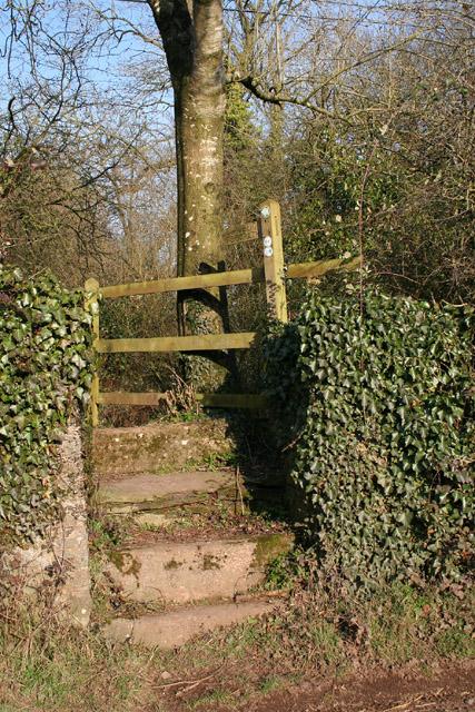 Stawley: footpath at Greenham