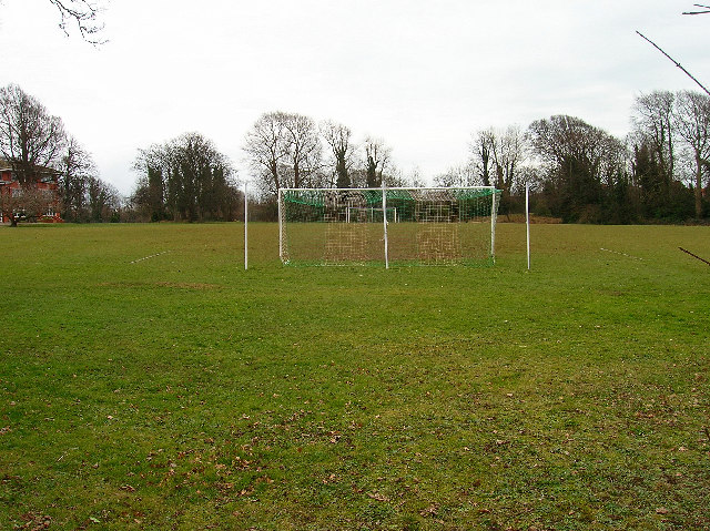 Back of the net. Cardinal Newman School playing field.
