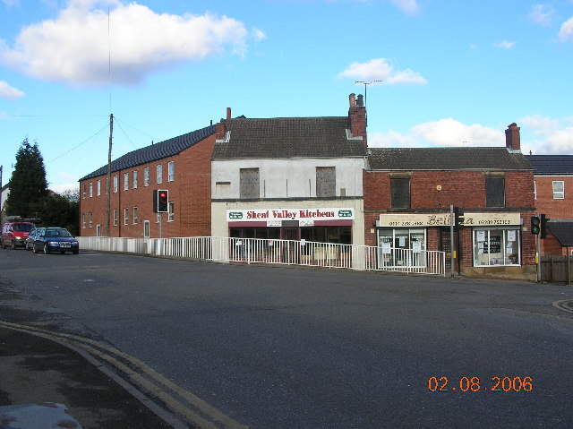 Mosborough High Street and junction with Station Road.