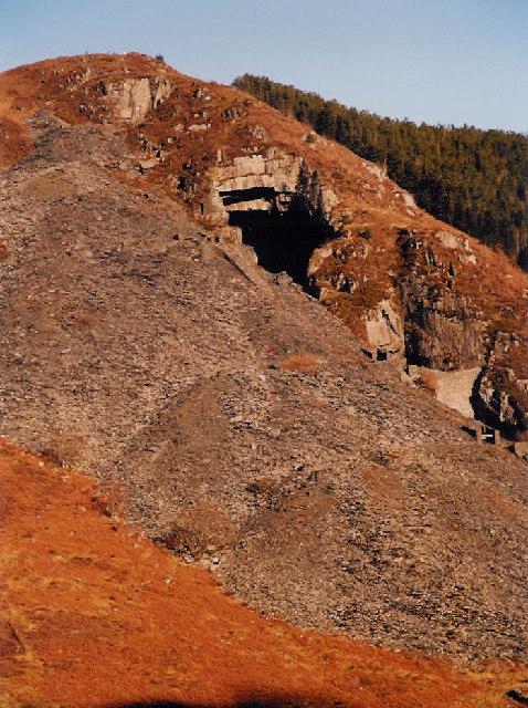 Aberllefenni slate quarry
