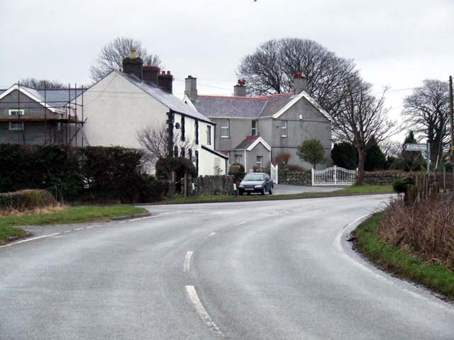 Roadside houses on Penmynydd road