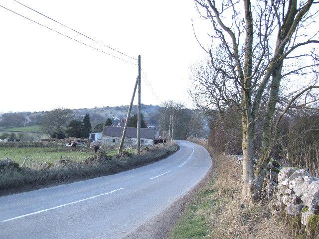 Looking north towards the village of Brassington.