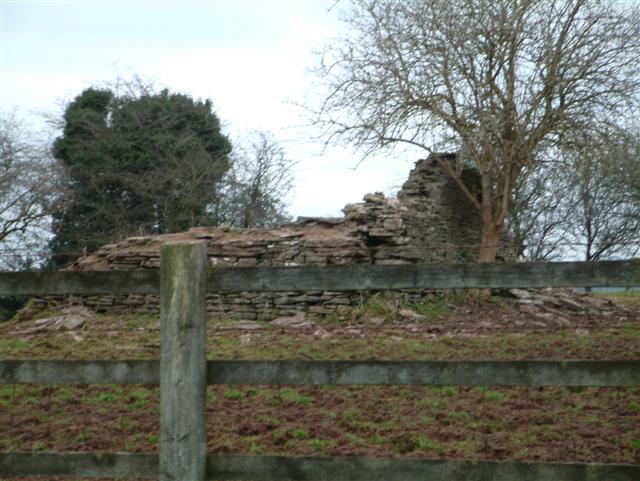 The remains of Llwynau Church