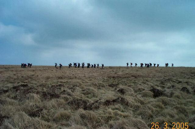 Walkers on Holne Moor - Dartmoor