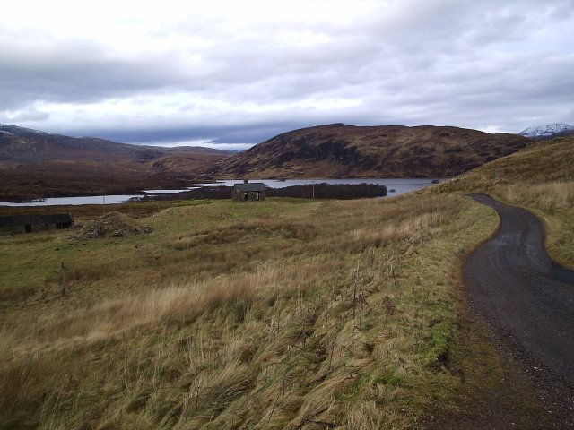Looking back towards the Cam loch from Elphin