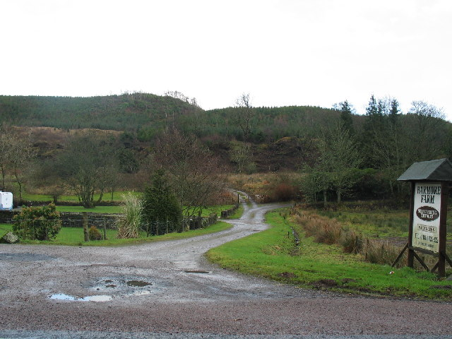 Barmore Farm entrance north of Tarbert, Argyll.