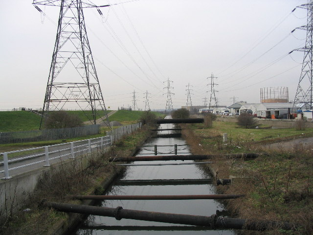 Pylons in the Lea Valley