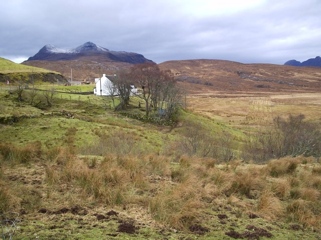 Looking from Knockan at the hill Cul Mor