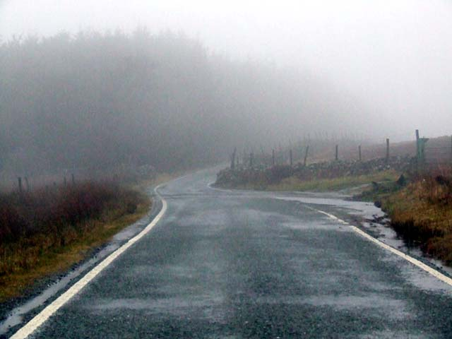 Road above Deiniolen