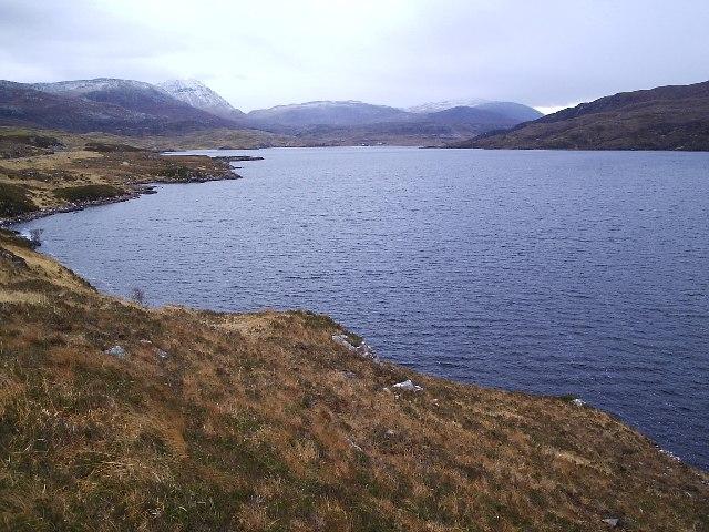 Looking East along Loch Assynt towards Inchnadamph