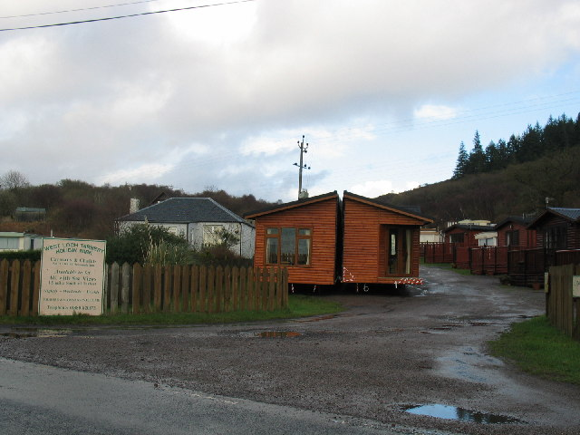 West Loch Tarbert Holiday Park on the A83.