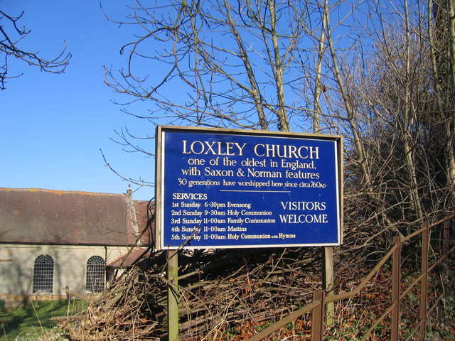 Loxely Church Sign