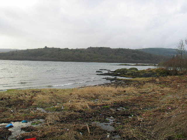 West Loch Tarbert shoreline.