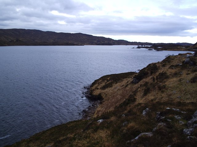 Looking West along Loch Assynt