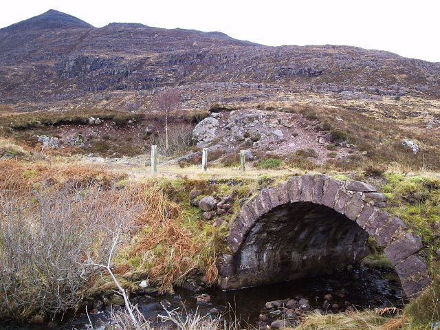 Quinag and a lovely old Road Bridge