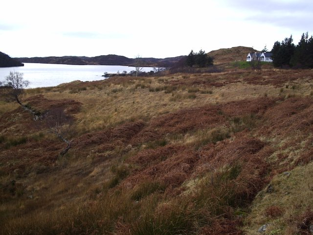 Looking West along Loch Assynt from Tumore
