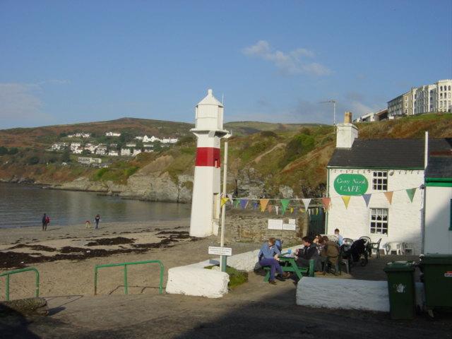 Lighthouse  and Cafe on Port Erin Beach
