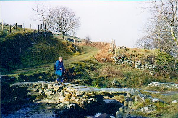 Clapper bridge above Arthog