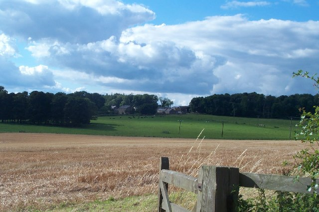Heckley High House from across the fields