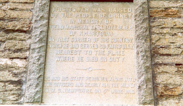 Inscription on the Kitchener Memorial