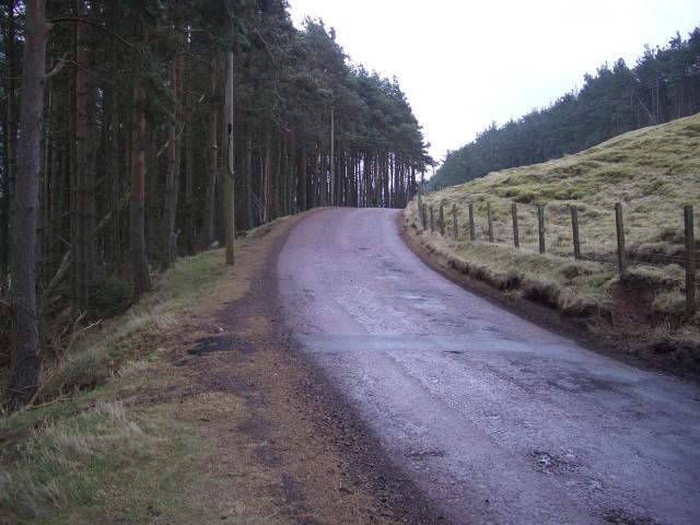 Road around Borland Hill