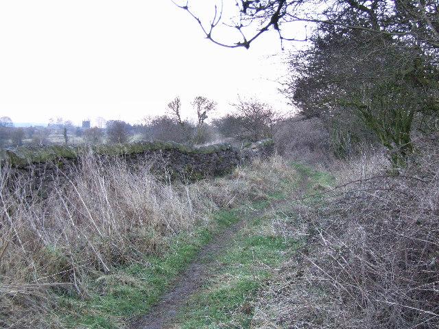 Footpath leading to Elton village.