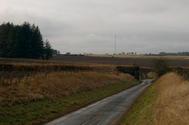 Disused railway bridge, with the remains of Hynd Castle to the left.