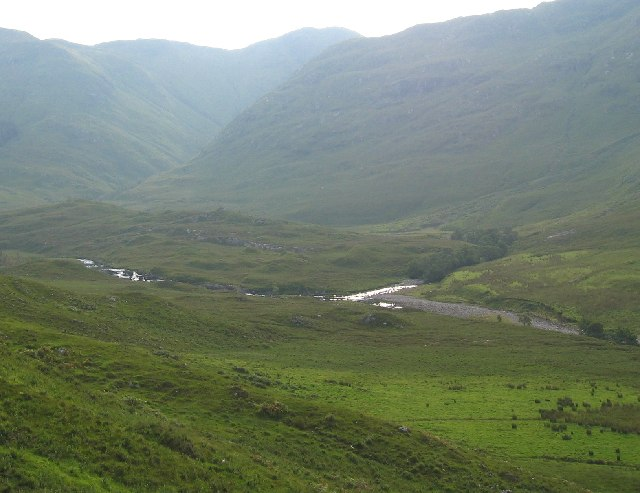 Where the allt  a' Ghlomaich joins the River Elchaig