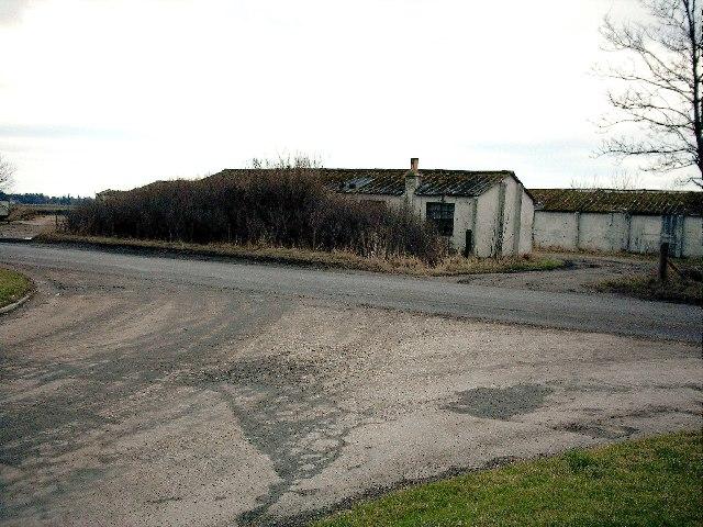Former airfield buildings at Bogs of Mayne near Elgin